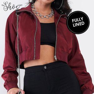 Cropped Bomber Jacket - Le Lis Collection